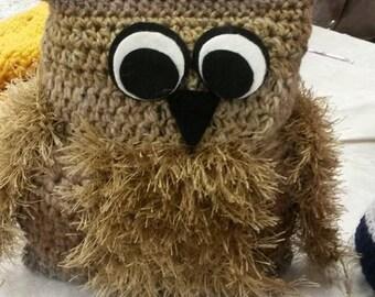 Little Owl Doorstop Brown