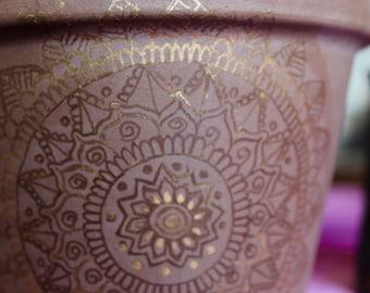 Mandala flower pot