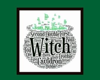 Shakespeare's Macbeth Witches' Cauldron 8 x 8 Giclee Fine Art Print