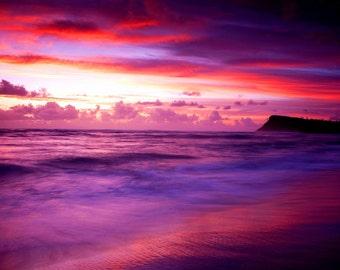 SEASCAPE SUNSET COLOURS