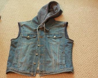 Vintage Denim Hoodie Jacket