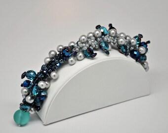 Bead Crochet Bracelet - Galaxy Cluster