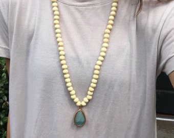 Long stone necklace !!