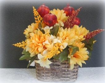 Fall Mum Floral Arrangement
