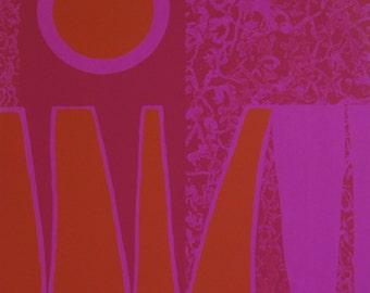 Hand Printed Original Print   Abstract Print   Silkscreen Print   Fine Art Print   Limited Edition Print    Modern Art   Orange Pink Art