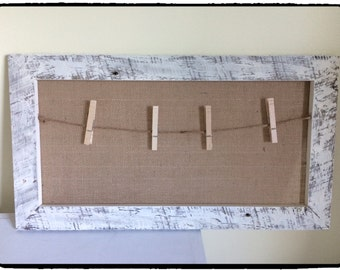 Large Burlap Memo Board