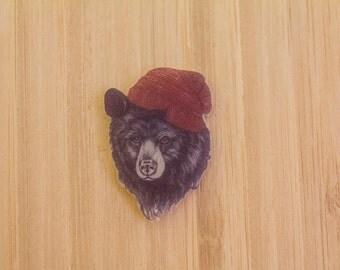 Hipster Bear Pin
