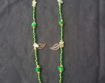 Acorn leaf necklace