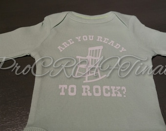 FREE SHIP - are you ready to rock? Baby infant onesie bodysuit! Multiple colors available