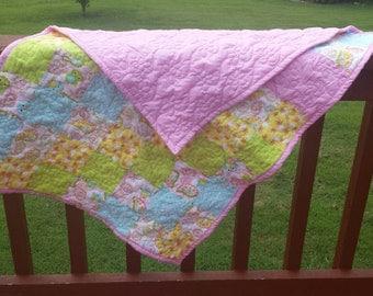 Baby girl crib quilt