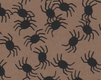100 - 1 inch Black Spiders  for Paper Crafts