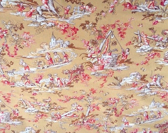 Fabric cotton fabric of Jouy kids - size to 1 quantity 25 cmX 280 cm - 100% games