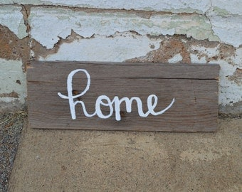 Home Hand-Painted Wood Sign