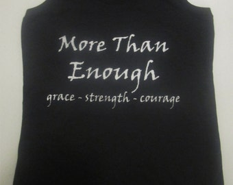 More Than Enough Racerback Tanktop