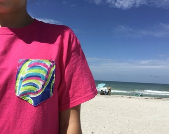 Lilly Pulitzer Inspired Pocket Tee