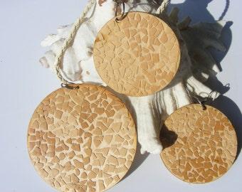 Natural egg shell mosaic sets