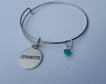 Strength with December- teal crystal