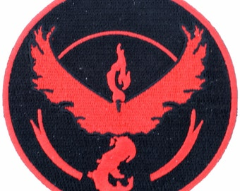 Pokemon Go team Valor Patch