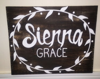 Custom Baby Name Sign