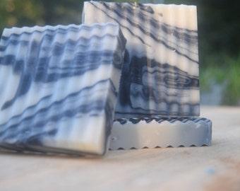 Homemade Black Marble Soap