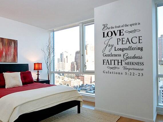 Fruit Of The Spirit Kjv Galations 5 Scripture Vinyl Wall Decal