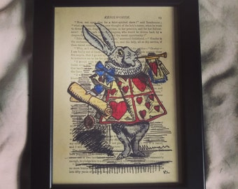 Rabbit, Alice in wonderland watercolour