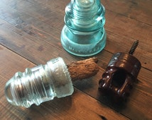 Vintage Collection Of 3 Glass/Ceramic Insulators
