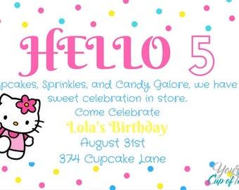 Hello Kitty Birthday Invitation