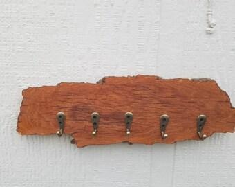 Tree Bark Key Rack