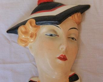 Art Deco Marlene Dietrich Wall Mask