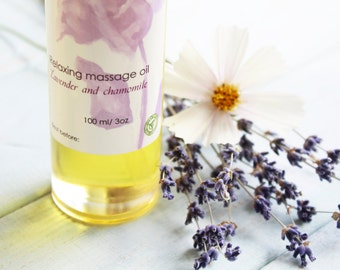 "Relaxing massage oil ""Lavender & chamomile"""