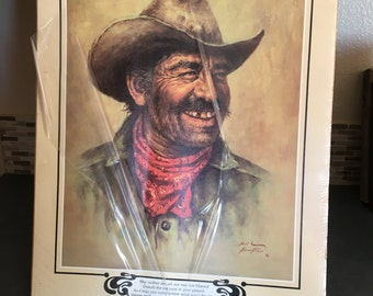 Cowboy Print By Bill Hampton