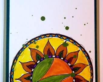 Greeting Card, Handmade, Watercolors & Marker