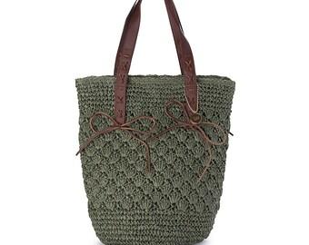 Hobo Tote Shoulder Bag - Neptune in Olive