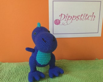 Tiny T-Rex - crocheted animal