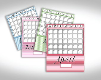 Striped Perpetual Calendar