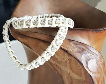 "Double small crystals bracelet Chan Luu ""Cream-Cream"""
