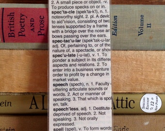 Dictionary Page Bookmark