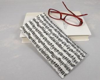 Music notes eye glass case, sunglass case, reading glasses case holder.