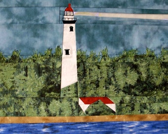 Presque Isle, MI Lighthouse quilt pattern - ON SALE