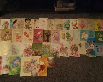 Used Vintage Birthday Greeting Cards