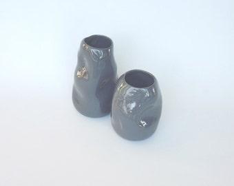 pallone gonfiato   vases, 2 pieces collection, ceramic
