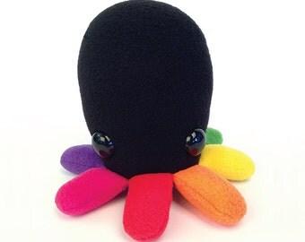 Rainbow Octopus Plush