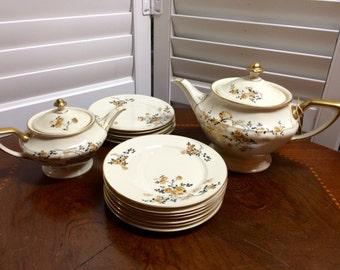 Rose thale ivory tea set, tea pot, shipping not free