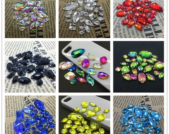 Mix Sizes Mix Shapes Glass Crystal Sew On Rhinestones More Colors Flatback Sewing Jewelry Beads DIY Beauty Wedding Dress decoration