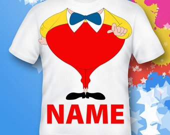 Tweedledum Shirt. tweedle dee Shirt.  tweedle dee gift.tweedle dee costume. tweedle dee birthday