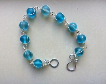 Turquoise Circle Swirl Bracelet