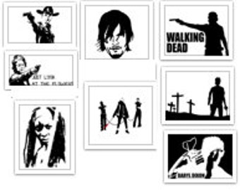 The Walking Dead Decal Lot SVG Cut Files Instant Download