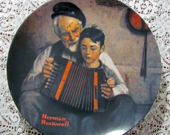 Vintage Plate The Music Maker by Norman Rockwell 1981 Collectors Plate