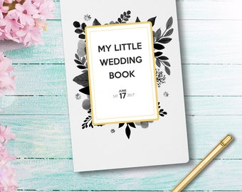 wedding notebook my little wedding book wedding planner personalized custom wedding book bridal shower